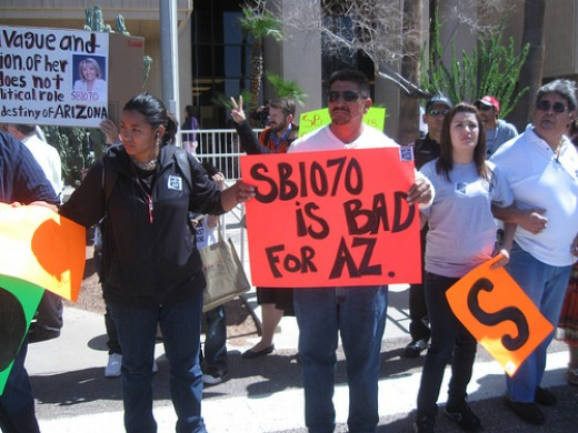 Protest against AZ SB1070, courtesy of http://www.flickr.com/photos/47699377@N02/4422977843/