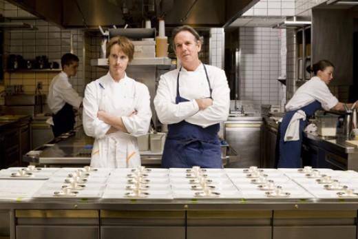 Grant Achatz and Thomas Keller in the Per Se Kitchen Courtesy of Steven Richter
