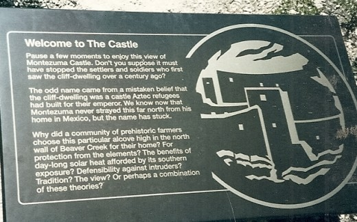 The Sign at Montezuma's Castle, Sedona: a brief history/photo courtesy of C. Cartwright.