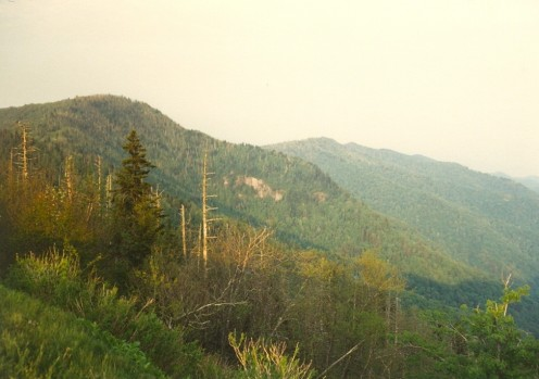 The Waterrock Knob overlook in North Carolina. Mile 450.