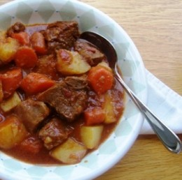 A hearty beef stew,perfect on a cold winter day