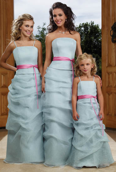 Bridesmaid Dresses:Raylia Bridesmaid Dresses 8469L, 8469LJB and 8468FL These beautiful floor length gowns feature a strapless neckline (detachable straps included). Gowns feature gentle ruching on skirt and optional alternate trim color. Standard (84