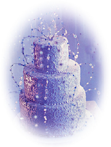 Wedding Cake Ideas: 3 tiered stacked wedding cake