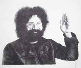 Jerry Garcia T-shirt front print.