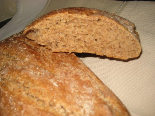 photo - A loaf of home made spelt bread.