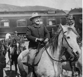 President Theodore Roosevelt at Yellowstone in 1904.