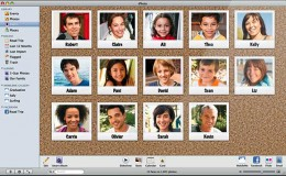 Example of the Faces feature in iPhoto