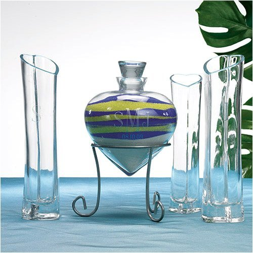 Heart Shaped Sand Ceremony Vase Set