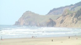 On our walk from Lincoln City Chinook Winds Casino to Northern rock face