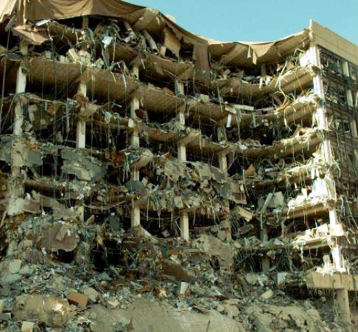 The Oklahoma City bombing that ended in mass destruction and deaths of many innocent people was politically motivated.