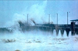 Ships lost to the Bermuda Triangle may be something as simple as a rogue wave. Though this is a storm surge, rogue waves of this size sometimes form on the high seas.