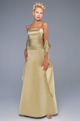 Bridesmaid Dress: Venus Bella Bridesmaids Dress D343 Strapless pleated bodice with light curved basque waistline, A-line skirt.