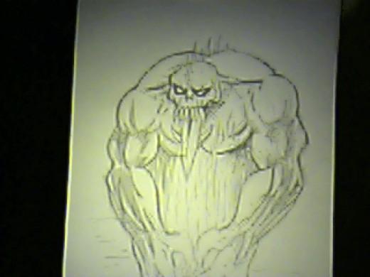 Draw A Fantasy Creature. Drawing Copyright Wayne Tully.