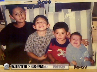 4 BROTHERS 4 EVER    YOUNGEST ANDY ANGEL,OUR BELOVED RYAN IZAIC, FABIAN ALEXANDER, AND OUR OLDEST RAMIRO JR. THIS PICTURE WAS TAKEN 2 WEEKS BEFORE RYAN PASSED AWAY HE WILL ALWAYS LIVES ON THROUGH HIS SURVIVED FAMILY AND  HIS ORGAN RECIPIANTS.