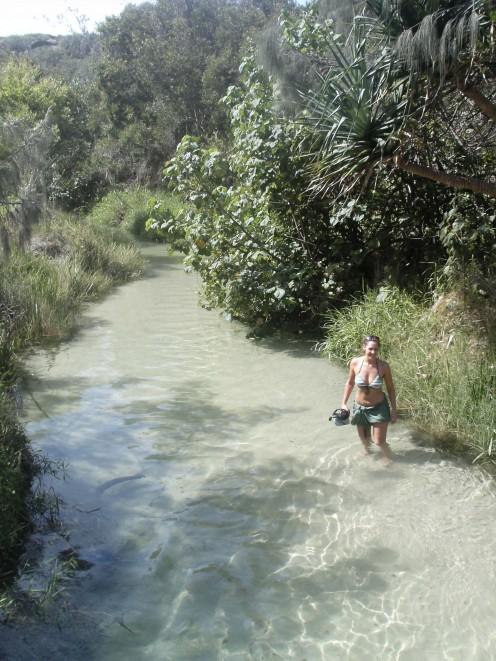 Wading down Eli Creek