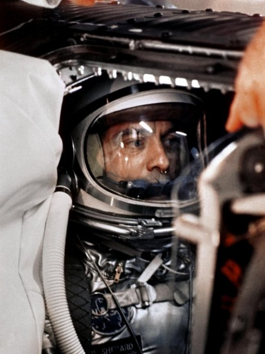 Alan Shepard in Freedom 7 before launch. Photo courtesy of NASA.