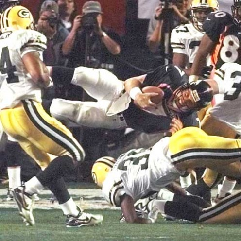 Denver Broncos and the Green Bay Packers A/P Photo