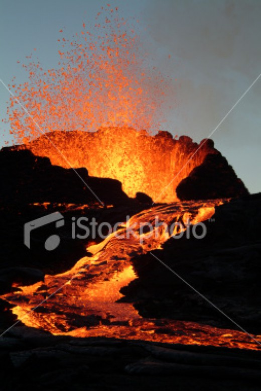 Lava flows can incinerate and burn everything in their path.