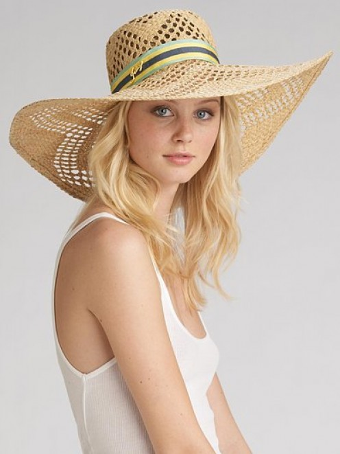 Juicy Couture straw sun hat