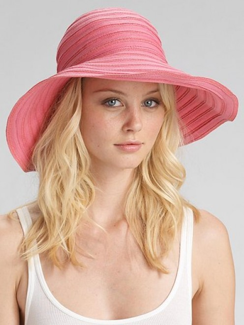 Juicy Couture packable braided ribbon sun hat