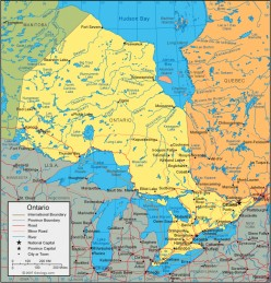 Map of Ontario photo from geology.com