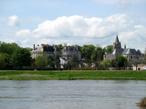 View of town from river