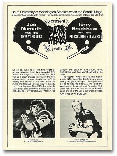 1972 game poster of University of Washington Stadium game.