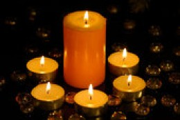Candles are romantic!