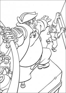 Treasure Planet Island Cartoon Kids Coloring Pages and Colouring Pictures to Print