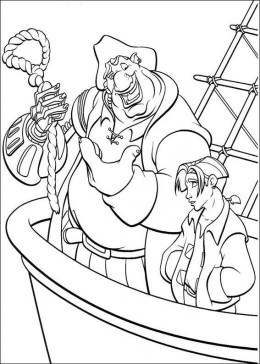 Treasure Planet Island Cartoon Kids Coloring Pictures and Colouring Pages to Print