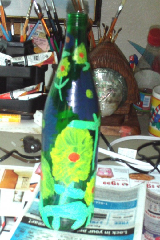 Here is the completed vase at yet another angle.
