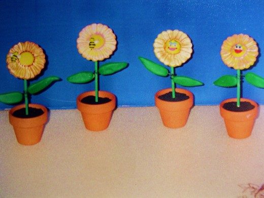 a collection of cheerful daisies by a fourth grader