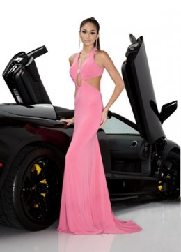 Prom Dress: Davinci Prom Dress Style 1319 Fabric : Jersey