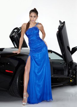 Prom Dress: Davinci Prom Dress Style 1316 Fabric : Chiffon