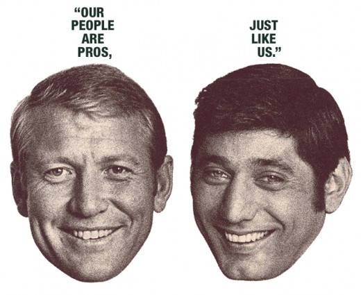 Mickey Mantel And Joe Namath Open an Employment Agency 1968