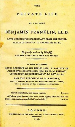 Franklin's Autobiography by Benjamin Franklin