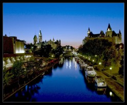 Rideau Canal at night photo from flickr.com
