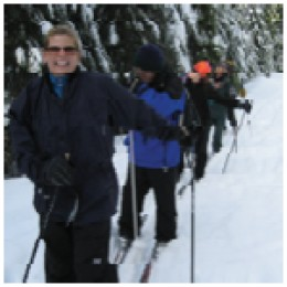 Cross-country ski  in the Majestic  Mt. Hood Forest!