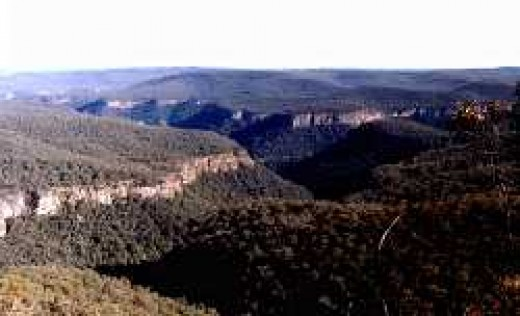 View from Echo Point, Morton National Park, Bundanoon, New South Wales, Australia