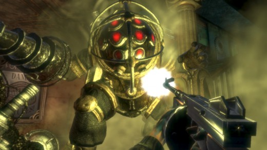 A Big Daddy attacks in Bioshock. Credit to www.nealbailey.net