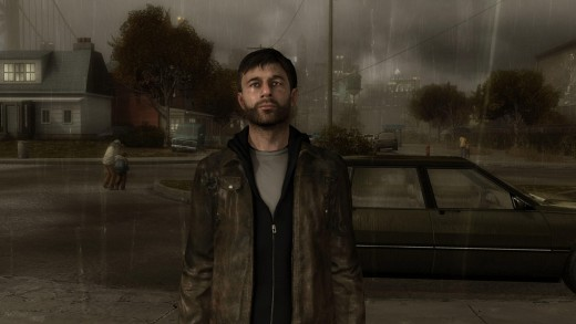 Ethan Mars stands in a downpour in Heavy Rain. Credit to www.incgamers.com