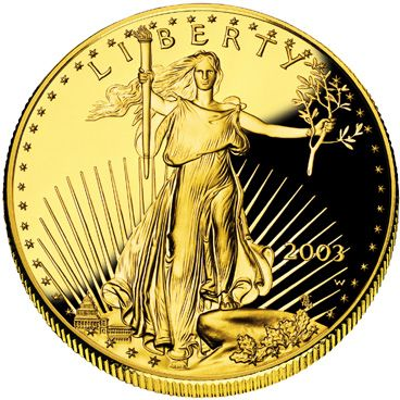 American Eagle gold coin - obverse.