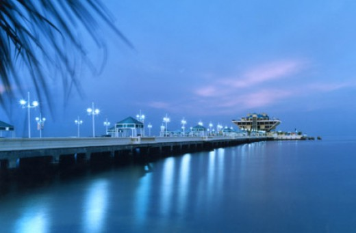 A walk along The Pier is beautiful and invigorating.
