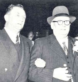Dr D.F. Malan (right), who led the assault on the South African Constitution and his successor, who completed the job, Mr J.G. Strijdom.