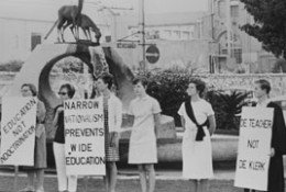 A typical Black Sash protest