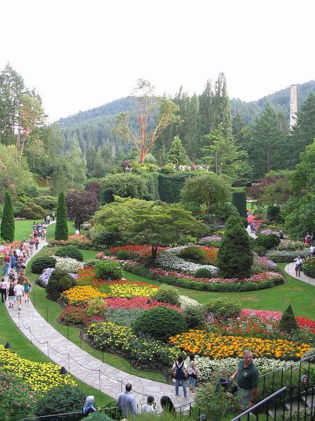Butchart's Sunken Garden.