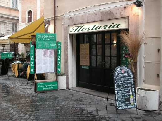 Roman back street pizzeria - no fancy dress required, just a big appetite!