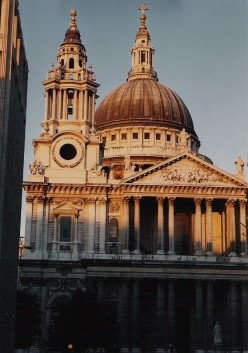London. St. Paul's Cathedral part of the Church of England - built at the time of England's growing power.