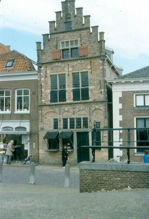 A gabled merchant's house in the Netherlands.