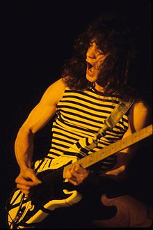 Edward van Halen Playing in New Haven in 1977